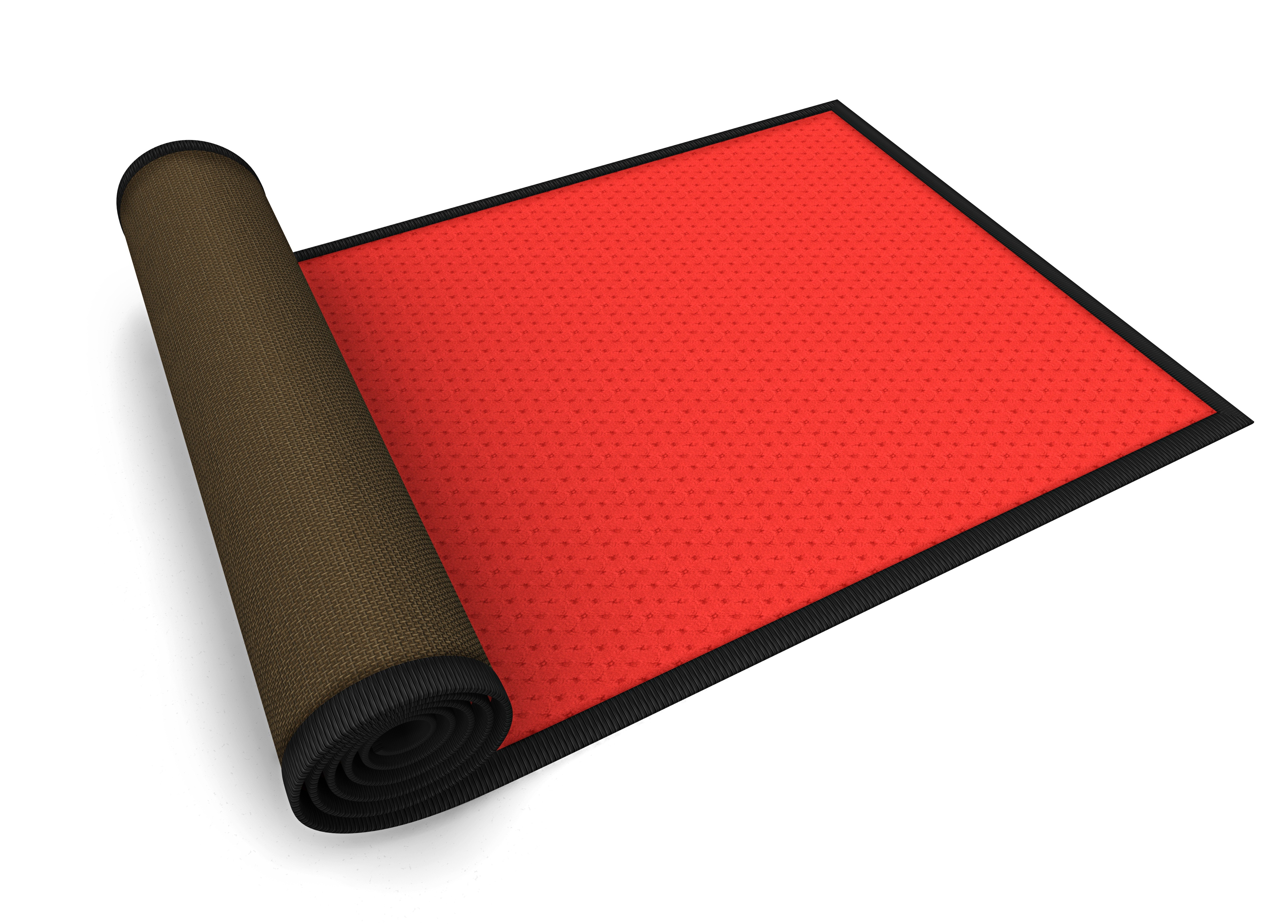 red outdoor mat