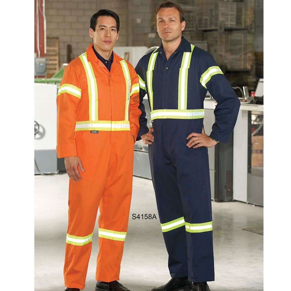 Workers wearing flame resistant uniform
